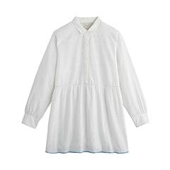 chemise bleu et blanche