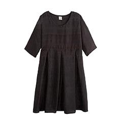 robe noire en soie