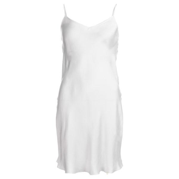 robe en soie lavée ivoire, longueur 3 col. Jill | Jeanne Voilier
