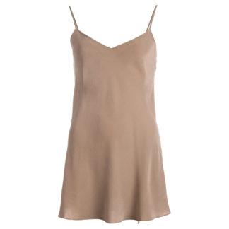 robe en soie Sable chaud L.2, col. JEANNE | JEANNE VOILIER