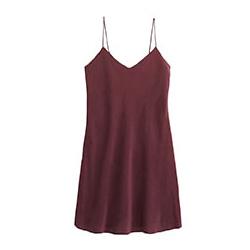 robe soie rouge foncé