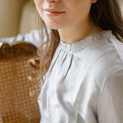 tuniques et robes en soie | Jeanne Voilier créatrice soies de jour et bijoux précieux