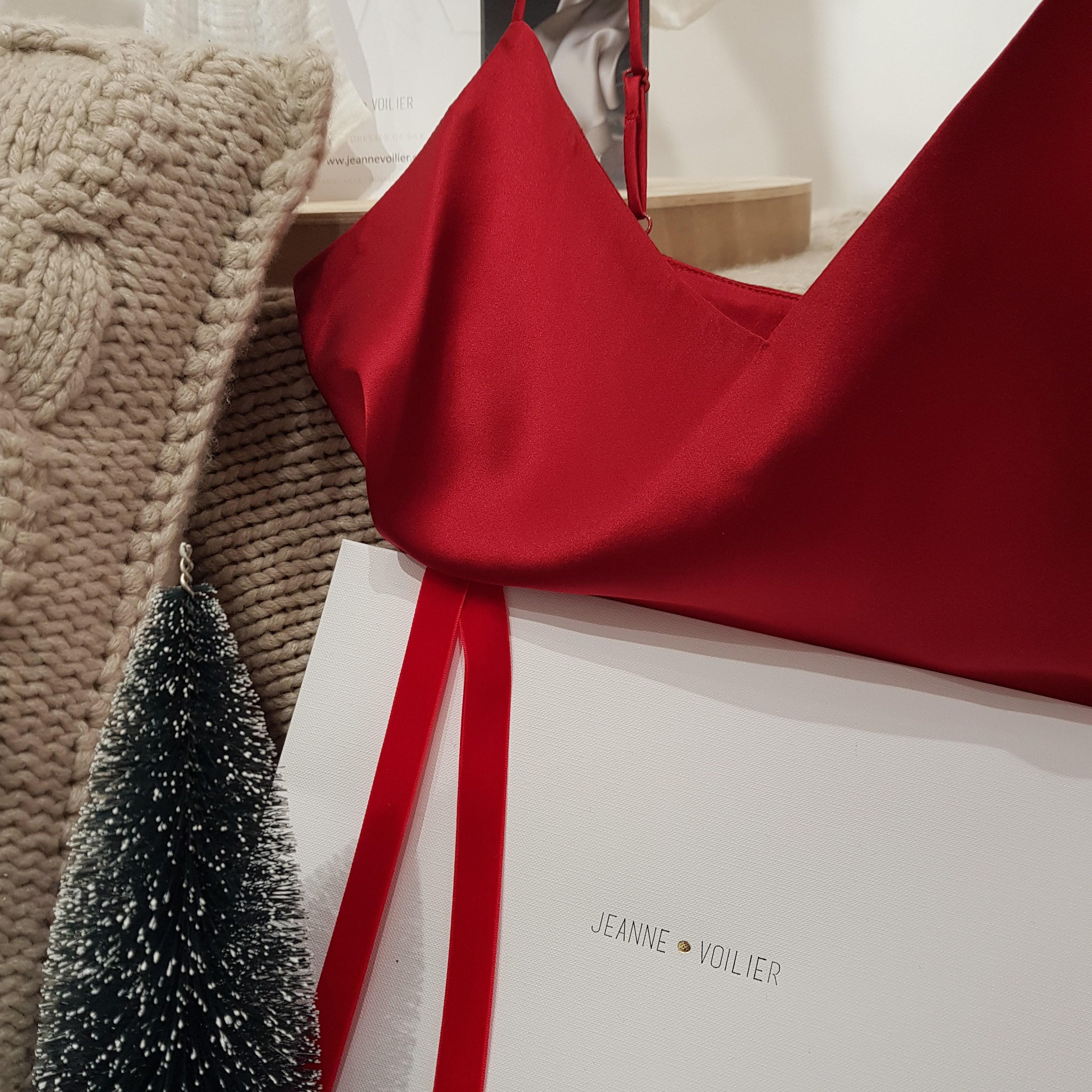 robe en soie Carmin, cadeau de Noël | JEANNE VOILIER