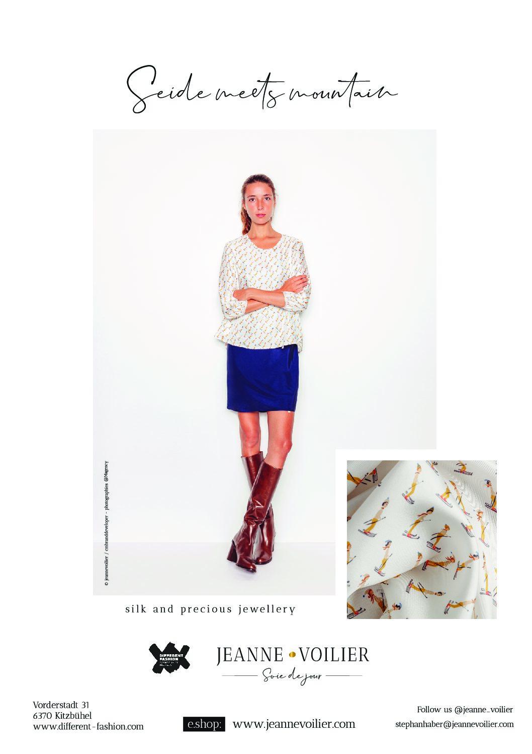 Kitzbühel magazine - hiver 2019-20 | Jeanne Voilier, soies de jour et bijoux précieux