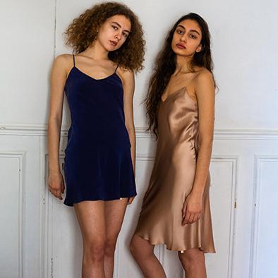 robes en soie Jeanne Voilier, créatrice soies et bijoux précieux