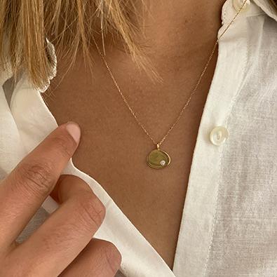 bijou Note personnelle or et diamant | Jeanne Voilier, créatrice soies et bijoux précieux