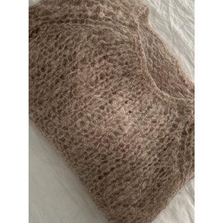pull laine coloris naturel tricoté main