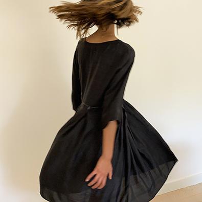 robe blackdress col. Bunaï | Jeanne Voilier, créatrice soies et bijoux précieux