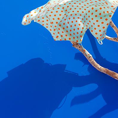 spot silk top blue lagon   Jeanne Voilier, soies de jour et bijoux précieux