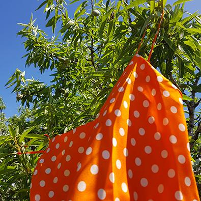spot silk top orange Twiggy   Jeanne Voilier soies de jour et bijoux précieux