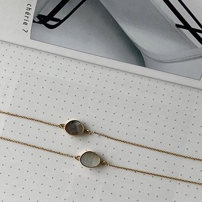 bracelets or et nacre MOON | Jeanne voilier, soies et bijoux précieux