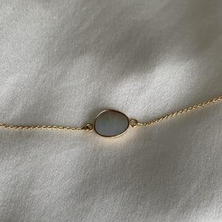 bracelet or et nacre MOON | Jeanne voilier, soies et bijoux précieux
