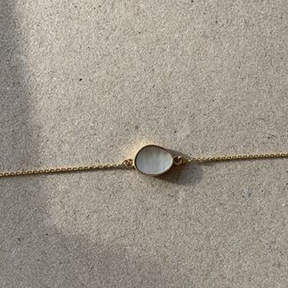 bracelet Moon or et nacre blance | Jeanne Voilier