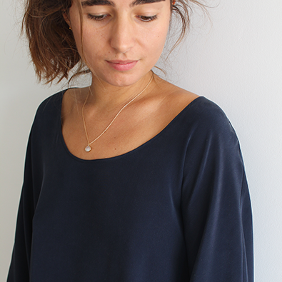 Robe en crêpe de soie Claire _ Jeanne Voilier, soies de jour