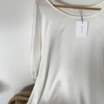 robe en soie blanche