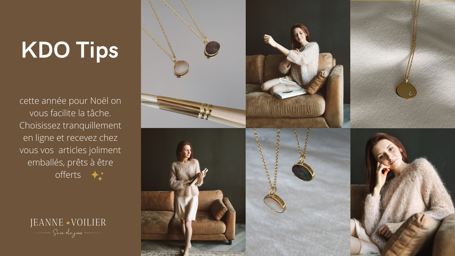 cadeaux de noël pour elles | Jeanne Voilier, soies de jour et bijoux précieux
