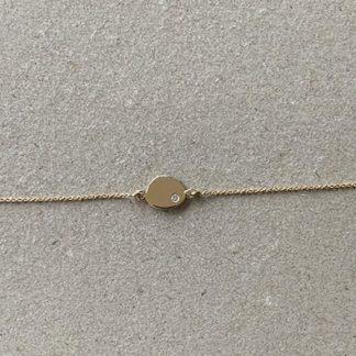 bracelet or jaune et diamant | Jeanne voilier créatrice soies de jour et bijoux précieux