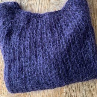 pull violet en laine