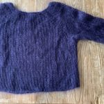 pull en laine violet