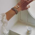 robe en soie blanche et bracelets Jeanne Voilier