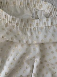 Jupe longue en soie et or | Jeanne Voilier, soies de jour et bijoux précieux