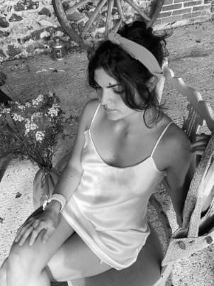 robe en soie ivoire, col. Jill   Jeanne Voilier, créatrice soie et bijoux précieux